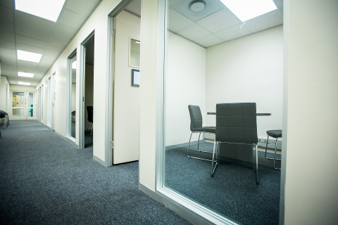 Six interview rooms